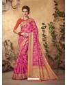 Graceful Pink Silk Saree