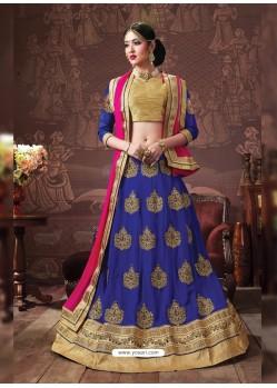Royal Blue Embroidered Lehenga Choli