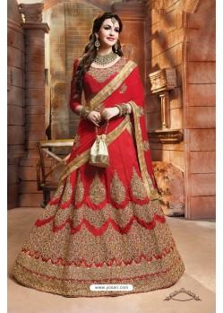 Red Banglori Silk Lehenga Choli