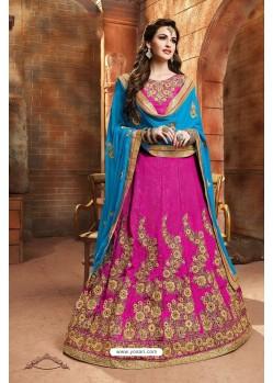 Pink Banglori Silk Lehenga Choli