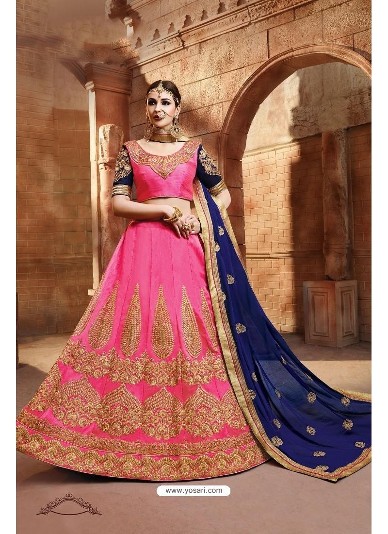 Light Pink Banglori Silk Lehenga Choli