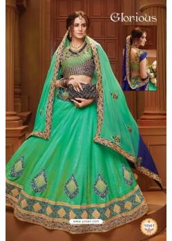 Fashionistic Jade Green Silk Lehenga Choli
