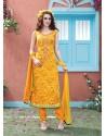 Mustard Cotton Salwar Kameez