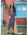 Blue Cotton Salwar Kameez