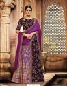 Purple Jacquard Silk Embroidered Saree