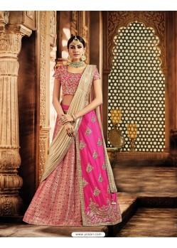 Rani Jacquard Silk Embroidered Saree