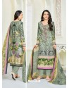 Karisma Kapoor Olive Green Cotton Print Work Suit