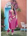 Magenta Cotton Salwar Kameez
