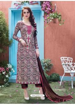 Brown Cotton Salwar Kameez