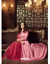 Light Pink Embroidered Floor Length Suit