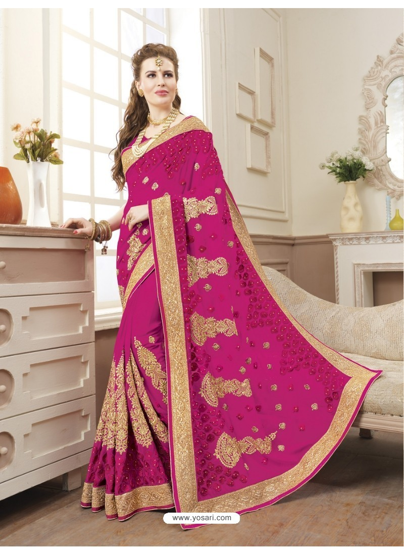 Pleasing Rani Georgette Saree