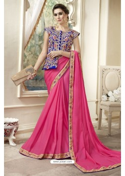 Astounding Rani Georgette Saree