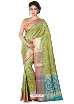 Lustrous Multi Colour Banarasi Silk Saree