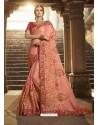 Lovely Peach Silk Saree