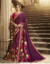 Latest Purple Silk Saree