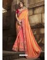 Competent Peach Silk Saree