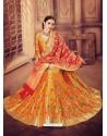 Eyeful Mustard Banarasi Silk Lehenga Choli