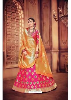 Decent Rani Banarasi Silk Lehenga Choli
