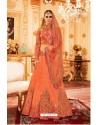 Light Orange Melbourne Silk Lehenga Choli