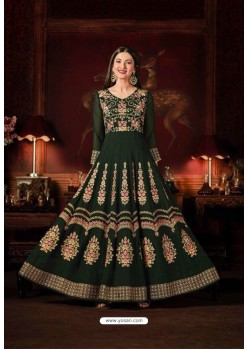 Gauhar Khan Green Faux Georgette Floor Length Suit