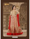 Golden Embroidered Floor Length Suit
