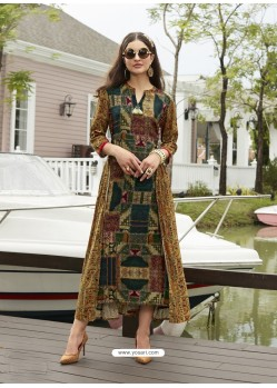 Fab Multi Colour Rayon Printed Kurti