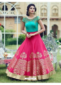 Splendid Rani Print Work Gown