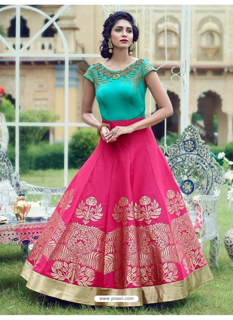 Splendid Rani Print Work Gown