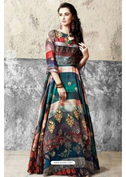 Markable Multi Colour Printed Gown