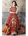 Exceptional Multi Colour Printed Gown