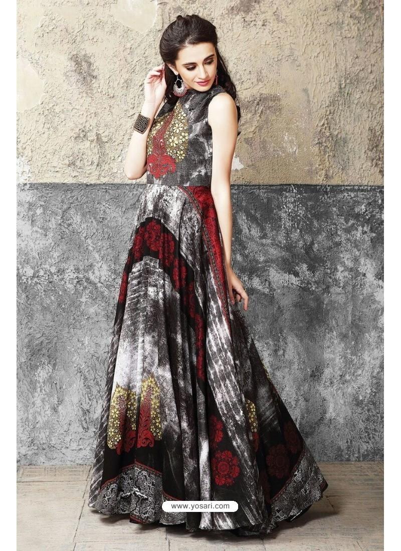 Buy Fantastic Multi Colour Cotton Gown   Gowns