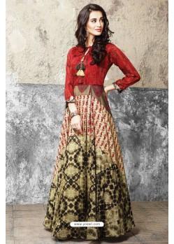 Fashionistic Multi Colour Printed Gown