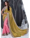 Multicolor Embroidered Work Designer Saree