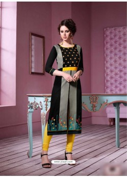 Flawless Multi Colour Rayon Embroidered Kurti