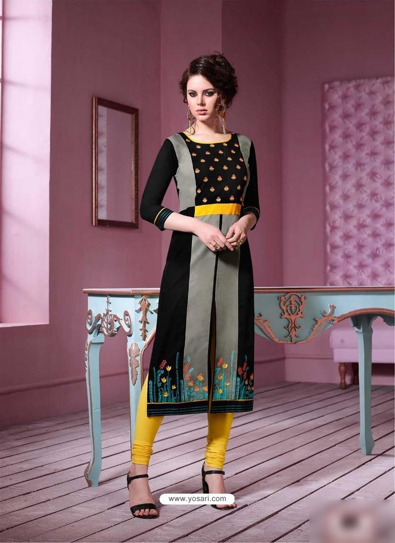 Flawless Multi Colour Rayon Embroidered Kurti