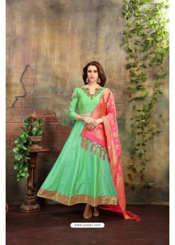 Stupendous Sea Green Floor Length Suit