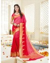 Splendid Red Bonga Silk Saree