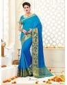 Lovely Blue Bonga Silk Saree