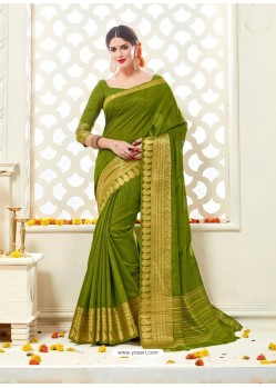 Eyeful Mehendi Bonga Silk Saree