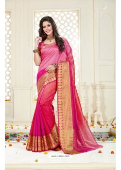 Hot Rani Bonga Silk Saree