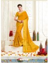 Groovy Yellow Bonga Silk Saree