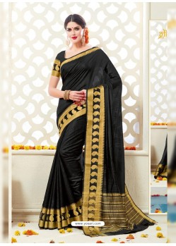 Mesmeric Black Bonga Silk Saree