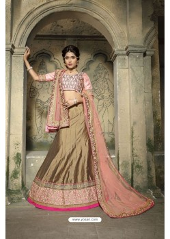 Delightful Golden Embroidered Lehenga Choli