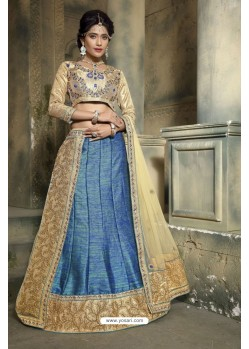 Fashionistic Blue Embroidered Lehenga Choli