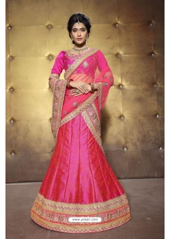 Beautiful Peach Embroidered Lehenga Choli