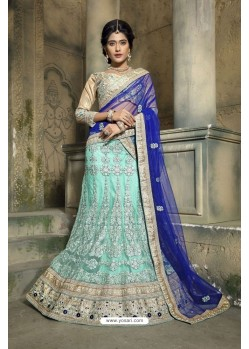 Girlish Green Embroidered Lehenga Choli