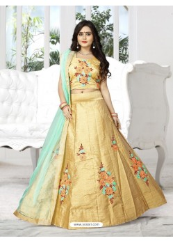 Astonishing Cream Silk Lehenga Choli
