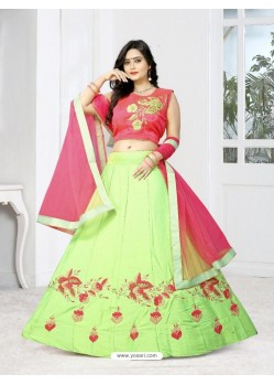 Admirable Sea Green Silk Lehenga Choli