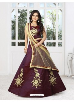 Awesome Maroon Silk Lehenga Choli