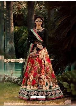 Spectacular Multi Colour Embroidered Lehenga Choli